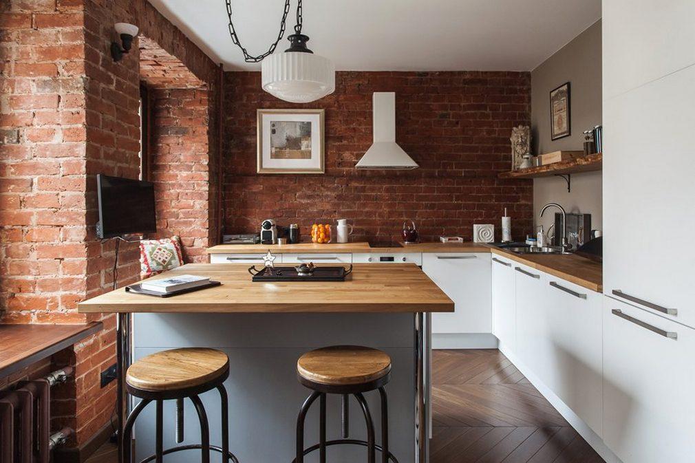Фото: дизайн кухни в стиле лофт