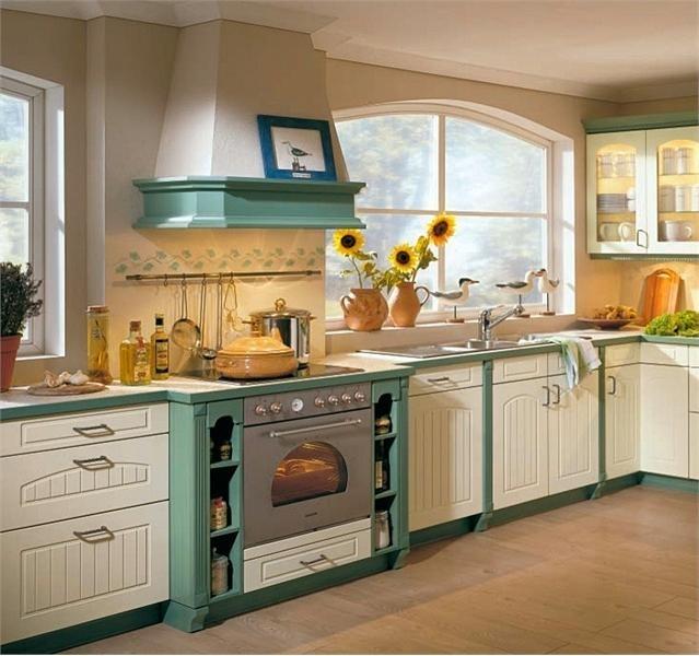 Фото: Белые кухни в стиле кантри