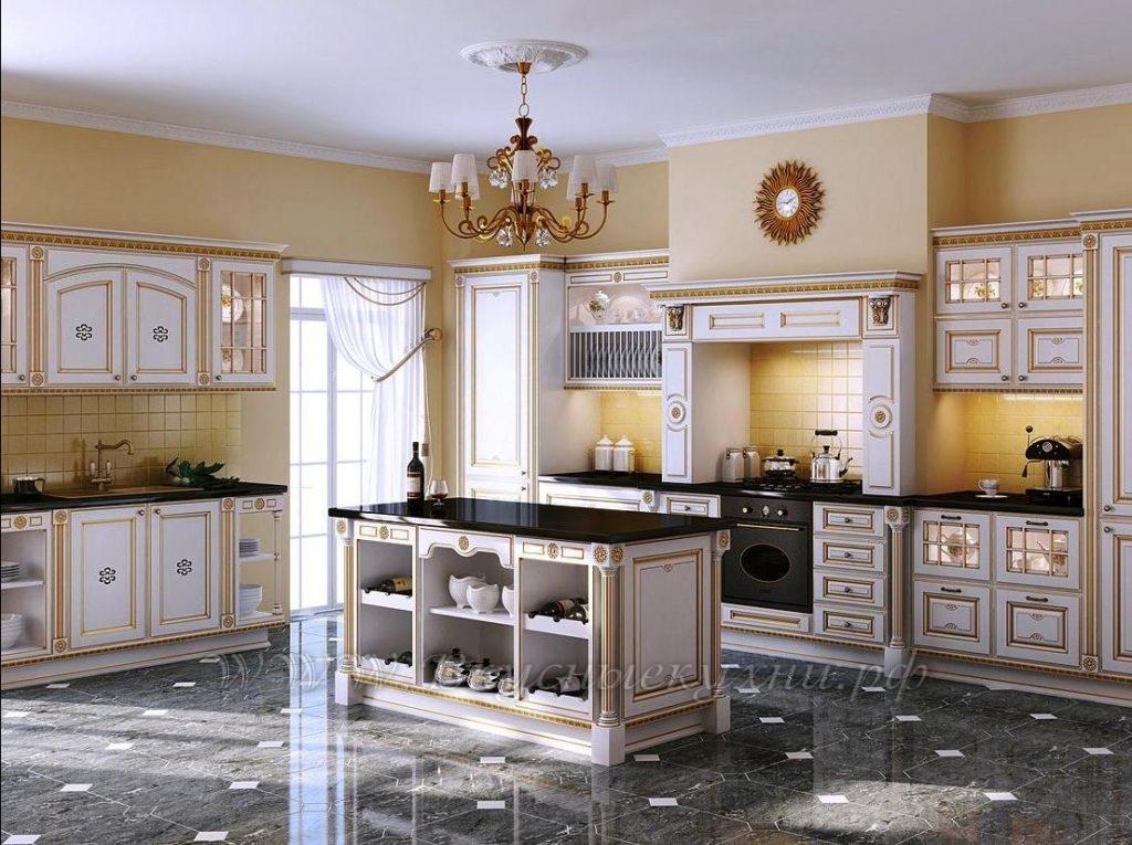 Фото: дизайн кухни в классическом стиле