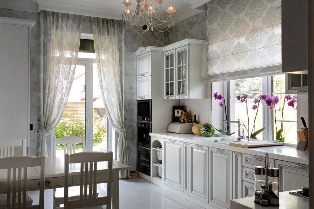 Фото: белые кухни в стиле прованс