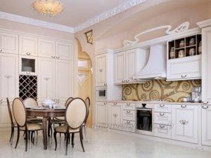 Фото: красивая классическая кухня на заказ