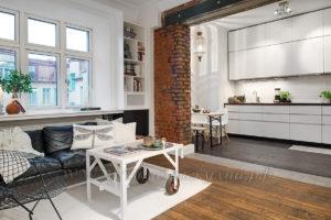 Фото: кухня в стиле лофт купить из массива