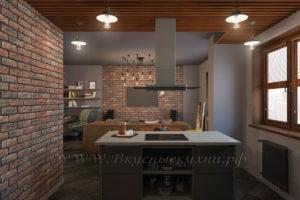 Фото: кухнz в стиле лофт