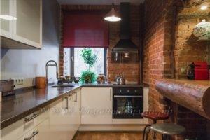Фото: кухня в стиле лофт крашенное
