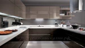 фото: кухня в современном стиле кремового цвета
