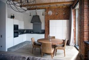 Фото: кухня в стиле лофт крашеная