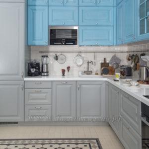 Фото: бело голубая кухня в стиле прованс заказать