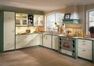 Фото: кухня в стиле хайтек желто зеленая