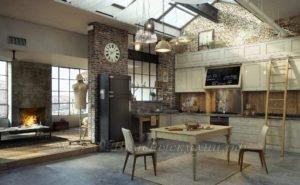 Фото: купить кухню в стиле лофт из мдф