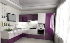 сиреневые кухни фото современного стиля
