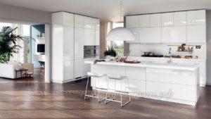 фото: белая кухня в современном стиле