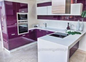 сиреневые кухни фото современного стиля №2