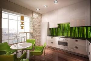 Фото: кухня в стиле лофт крашеное
