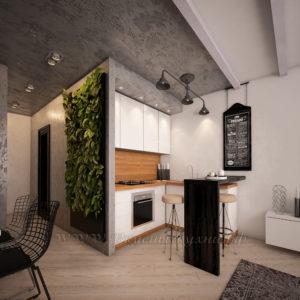 фото: кухня в стиле хайтек из мдф