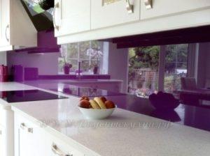 сиреневые кухни фото современного стиля №4