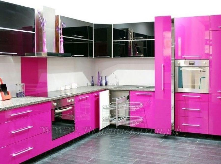 Фото: розовая кухня в стиле модерн