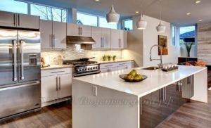 фото: белая кухня островая в современном стиле
