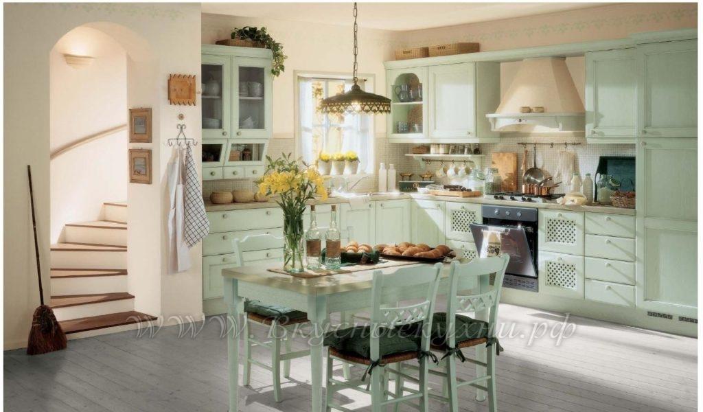 Фото: красивая кухня в стиле кантри