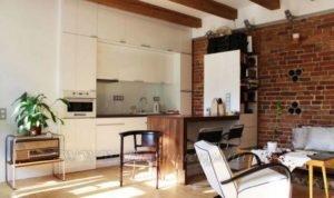 Фото: красивая кухня в стиле лофт