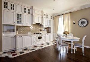 Фото: белая классическая кухня купить от производителя