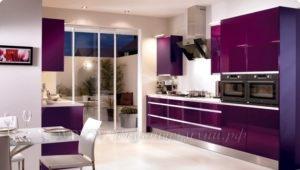 сиреневые кухни фото современного стиля №5