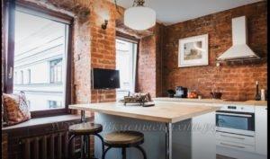 Фото: кухня в стиле лофт