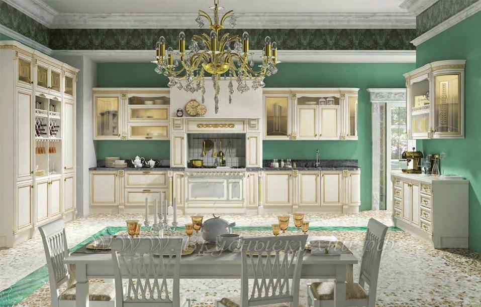 Фото: красивая кухня в классическом стиле